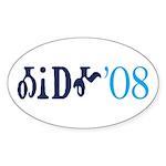 Obama Cherokee Oval Sticker (10 pk)