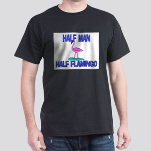 Half Man Half Flamingo Dark T-Shirt