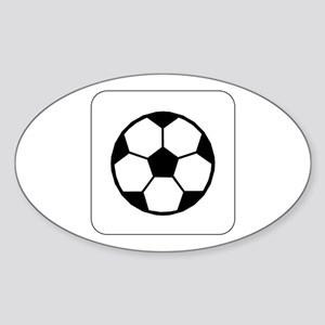 Soccer Ball Icon Oval Sticker