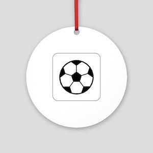 Soccer Ball Icon Keepsake (Round)