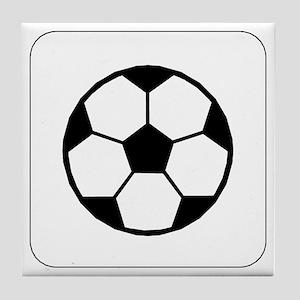Soccer Ball Icon Tile Coaster