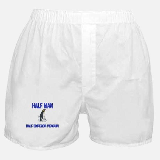 Half Man Half Emperor Penguin Boxer Shorts