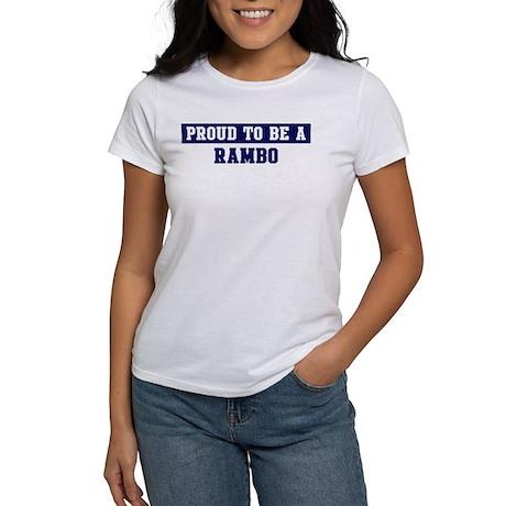 Proud to be Rambo Women's T-Shirt