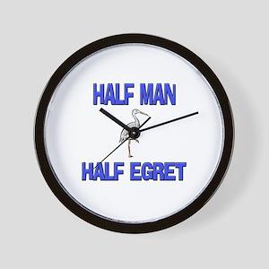 Half Man Half Egret Wall Clock