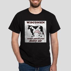 Wisconsin Smell Dairy Air Dark T-Shirt