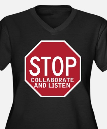 Stop Collaborate Listen Women's Plus Size V-Neck D