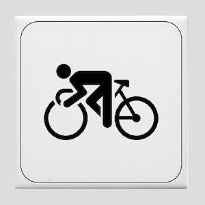 Cycling Icon Tile Coaster