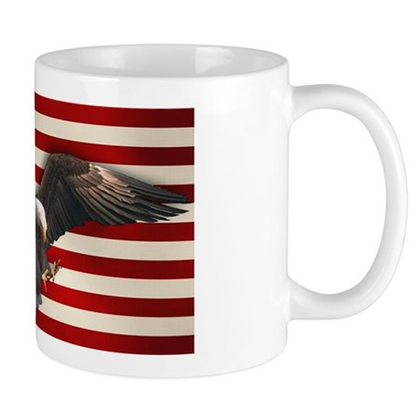 American Flag w/Eagle Mug