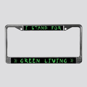 Green Living Activist License Plate Frame
