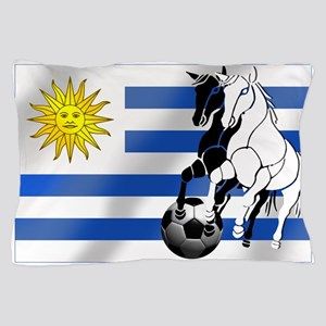 Uruguay Soccer Flag Pillow Case