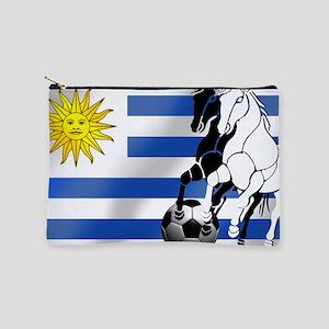 Uruguay Soccer Flag Makeup Bag