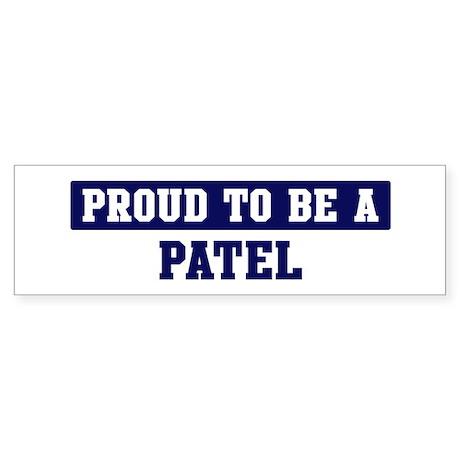 Proud to be Patel Bumper Sticker