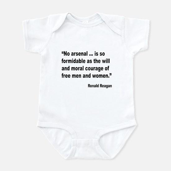 Reagan Moral Courage Quote Infant Bodysuit