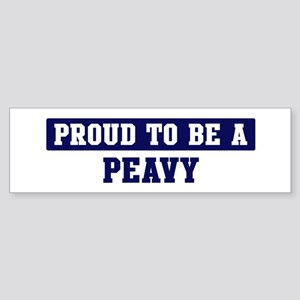 Proud to be Peavy Bumper Sticker