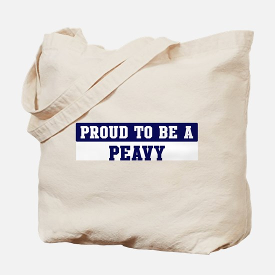 Proud to be Peavy Tote Bag
