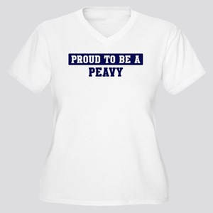 Proud to be Peavy Women's Plus Size V-Neck T-Shirt