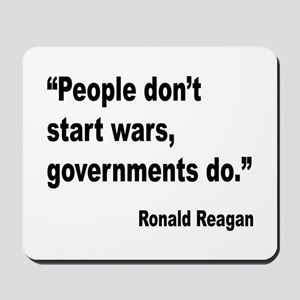 Reagan Government Wars Quote Mousepad