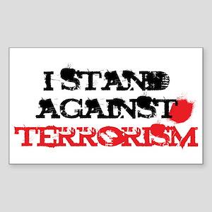 Anti-Terrorism Rectangle Sticker