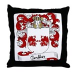 Cordier Family Crest Throw Pillow
