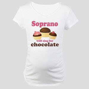Chocolate Soprano Maternity T-Shirt