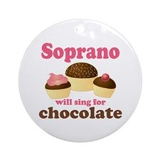 Chocolate Soprano Ornament (Round)