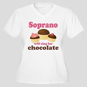 Chocolate Soprano Women's Plus Size V-Neck T-Shirt