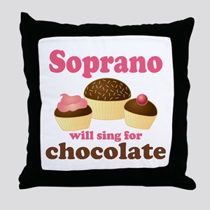 Chocolate Soprano Throw Pillow