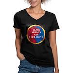 A Cut Above Women's V-Neck Dark T-Shirt