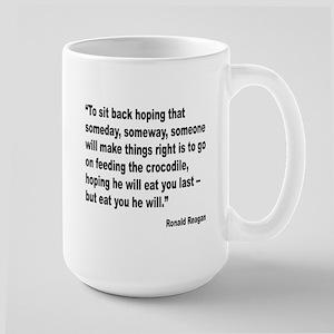 Reagan Crocodile Quote Large Mug