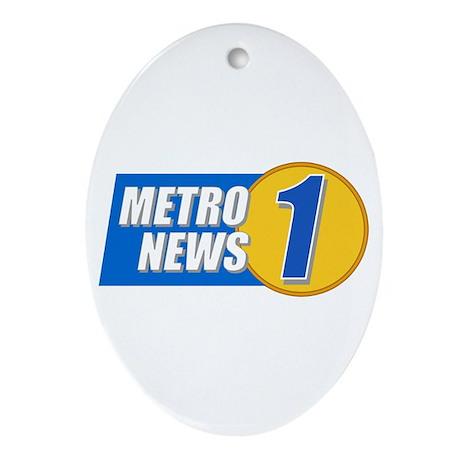 Metro News 1 Oval Ornament