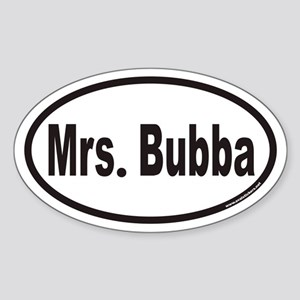 Mrs. Bubba Euro Oval Sticker