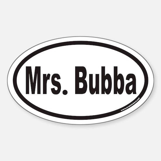 Mrs. Bubba Euro Oval Decal