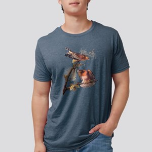 Red Shouldered Hawk Vintage Audubon Art T-Shirt