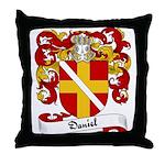 Daniel Family Crest Throw Pillow