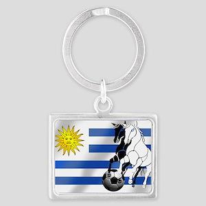 Uruguay Soccer Flag Keychains