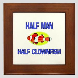 Half Man Half Clownfish Framed Tile