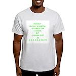 Ash Grey Prevent Global Warming T-Shirt