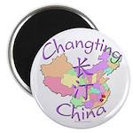 Changting China Map Magnet