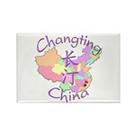 Changting China Map Rectangle Magnet (10 pack)