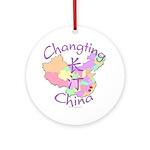 Changting China Map Ornament (Round)