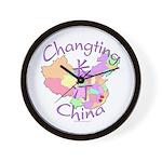 Changting China Map Wall Clock