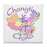 Changting China Map Tile Coaster