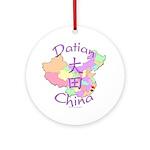 Datian China Map Ornament (Round)