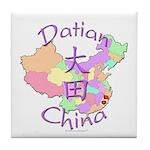 Datian China Map Tile Coaster