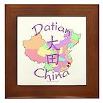 Datian China Map Framed Tile