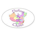 Datian China Map Oval Sticker (10 pk)