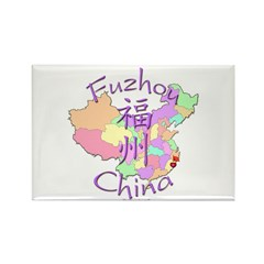 Fuzhou China Map Rectangle Magnet