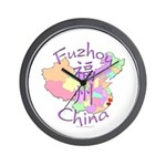 Fuzhou China Map Wall Clock