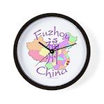 Fuzhou China Map Wall Clock