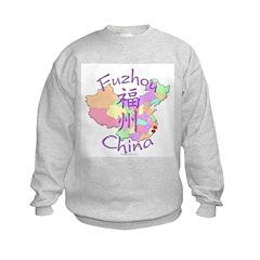 Fuzhou China Map Sweatshirt